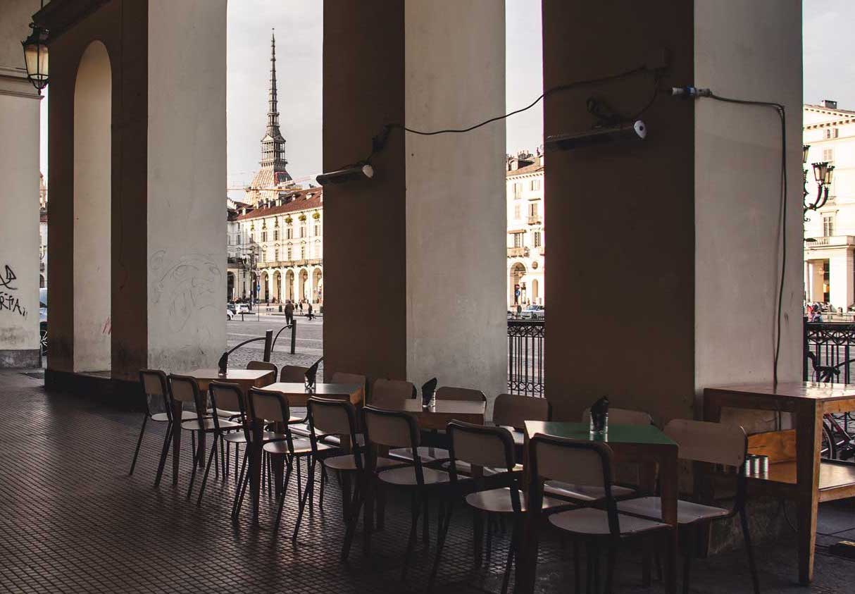 Bar with a View in Turin Italy