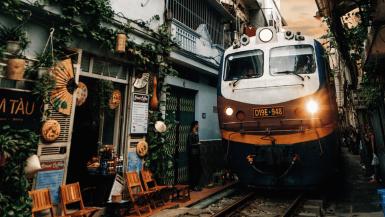 Visit Hanoi Train Street