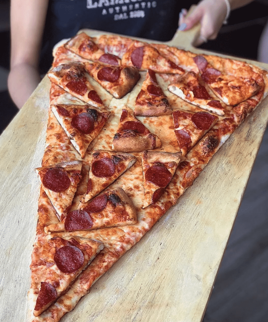 Giant Pizza Topped With Even More Pizza