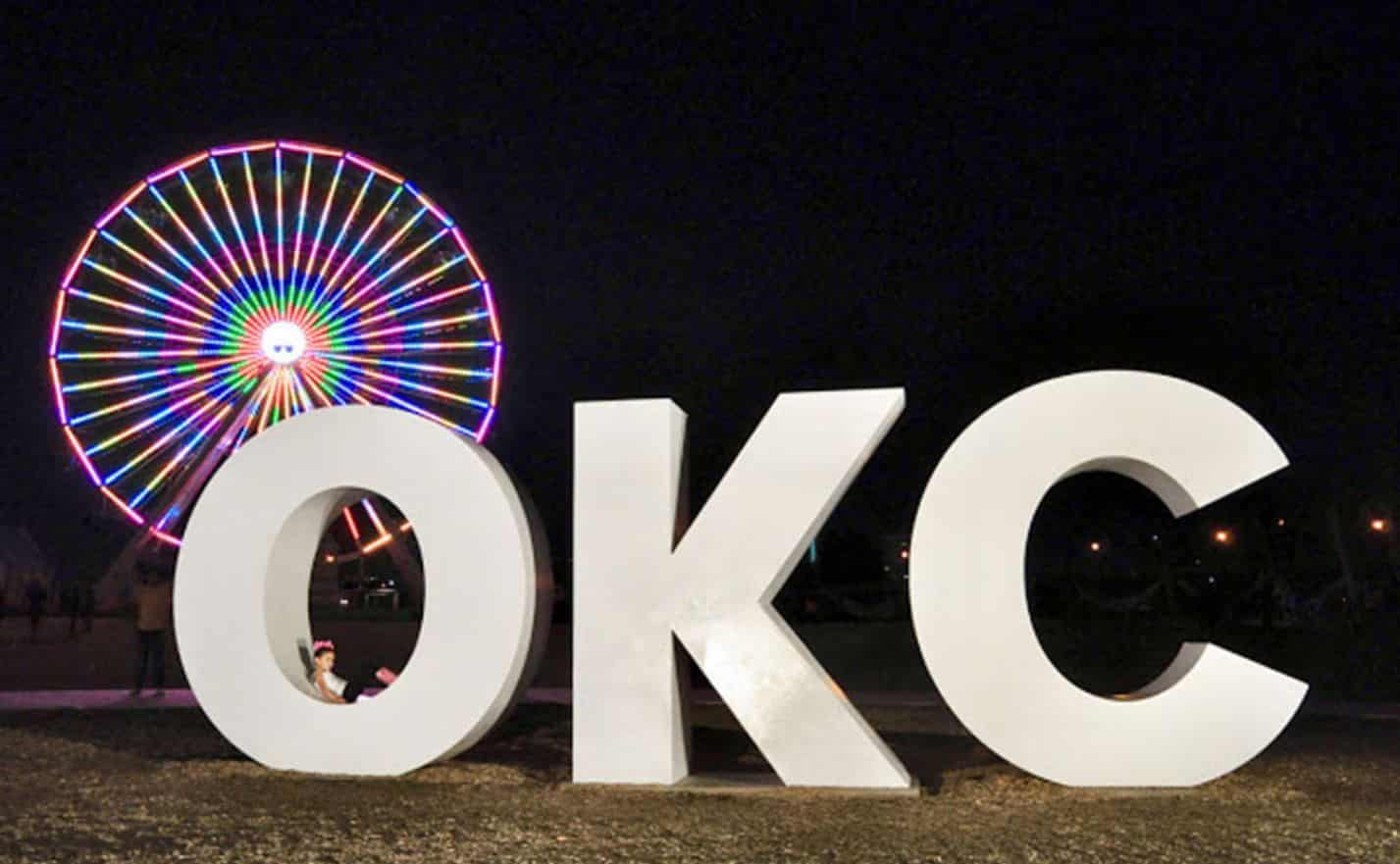 Ferris Wheel & OKC Sign
