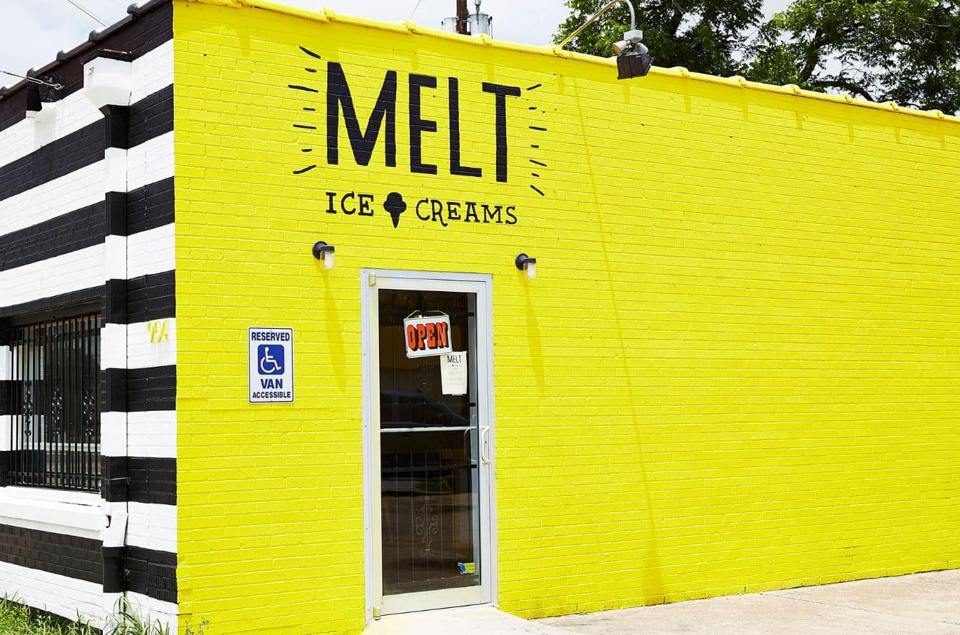 Yellow Wall at Melt Ice Creams