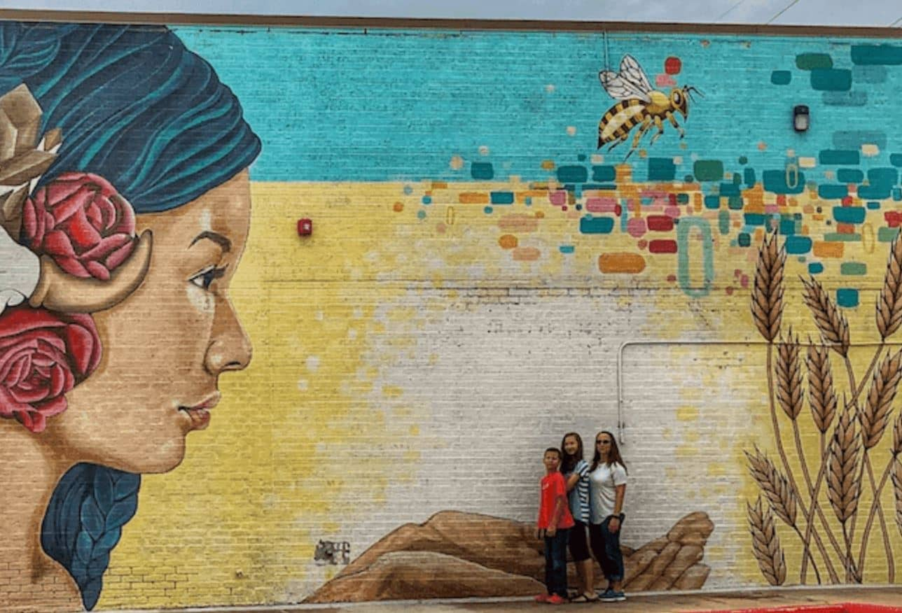 OKC Murals in Walker Arts District