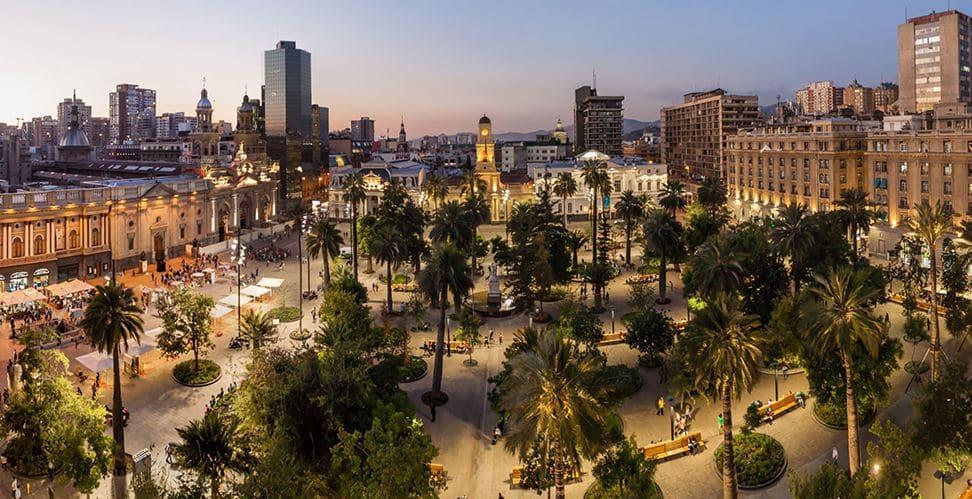 Plaza de Armas in Santiago