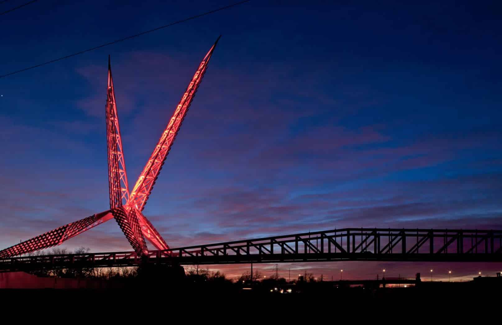 Skydance Bridge in Oklahoma City