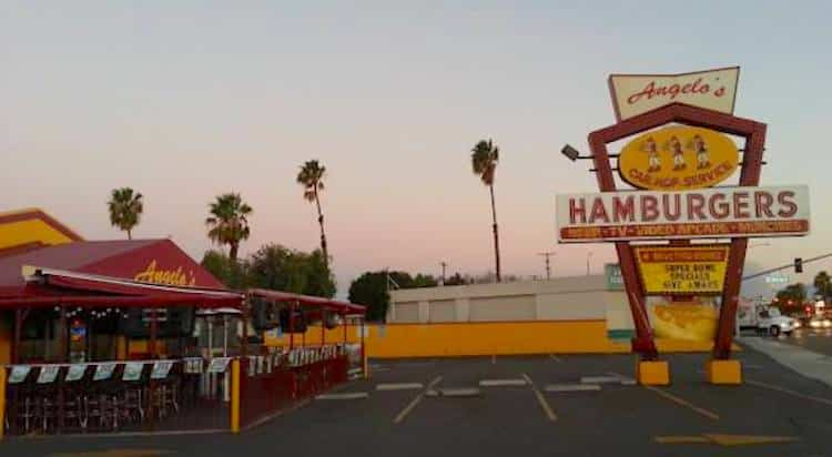 Authentic Drive-In Burger Place in California
