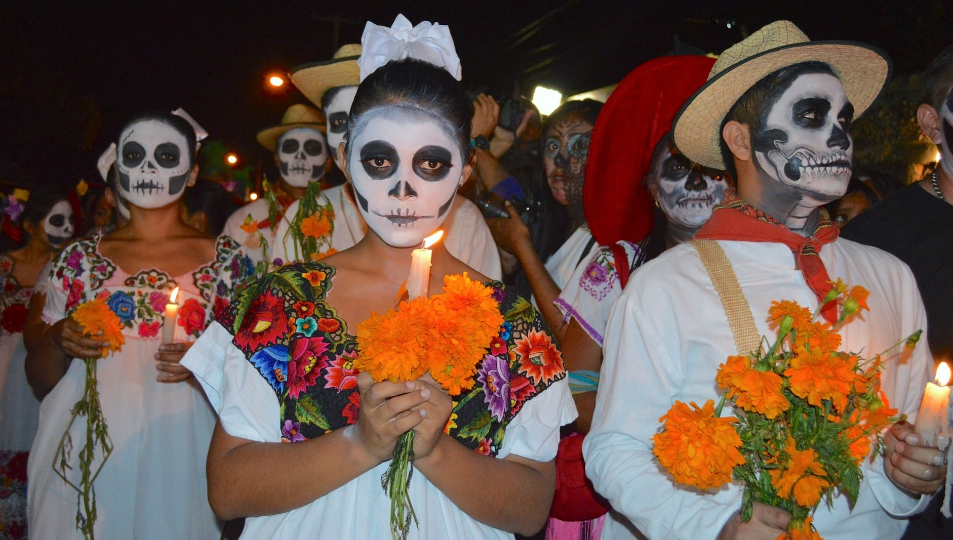 Day of the Dead Skull in Mexico