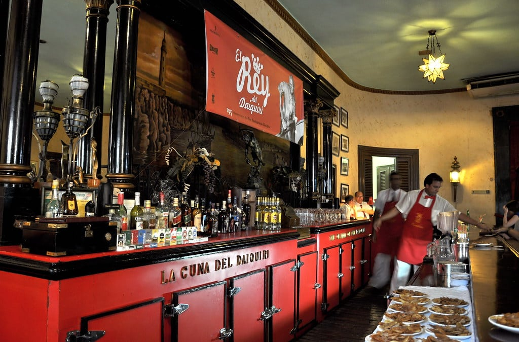 Hemingway's Favourite Bar in Havana is El Floridita
