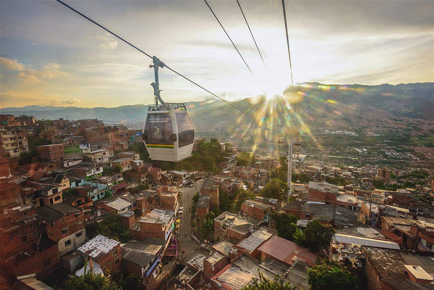 Metrocable Cable Cars in Medellin, Colombia