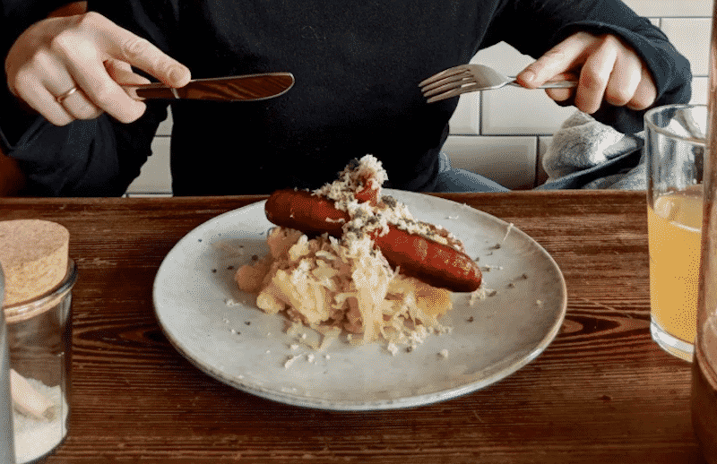 Woman Eats the Best German Sausages in Berlin