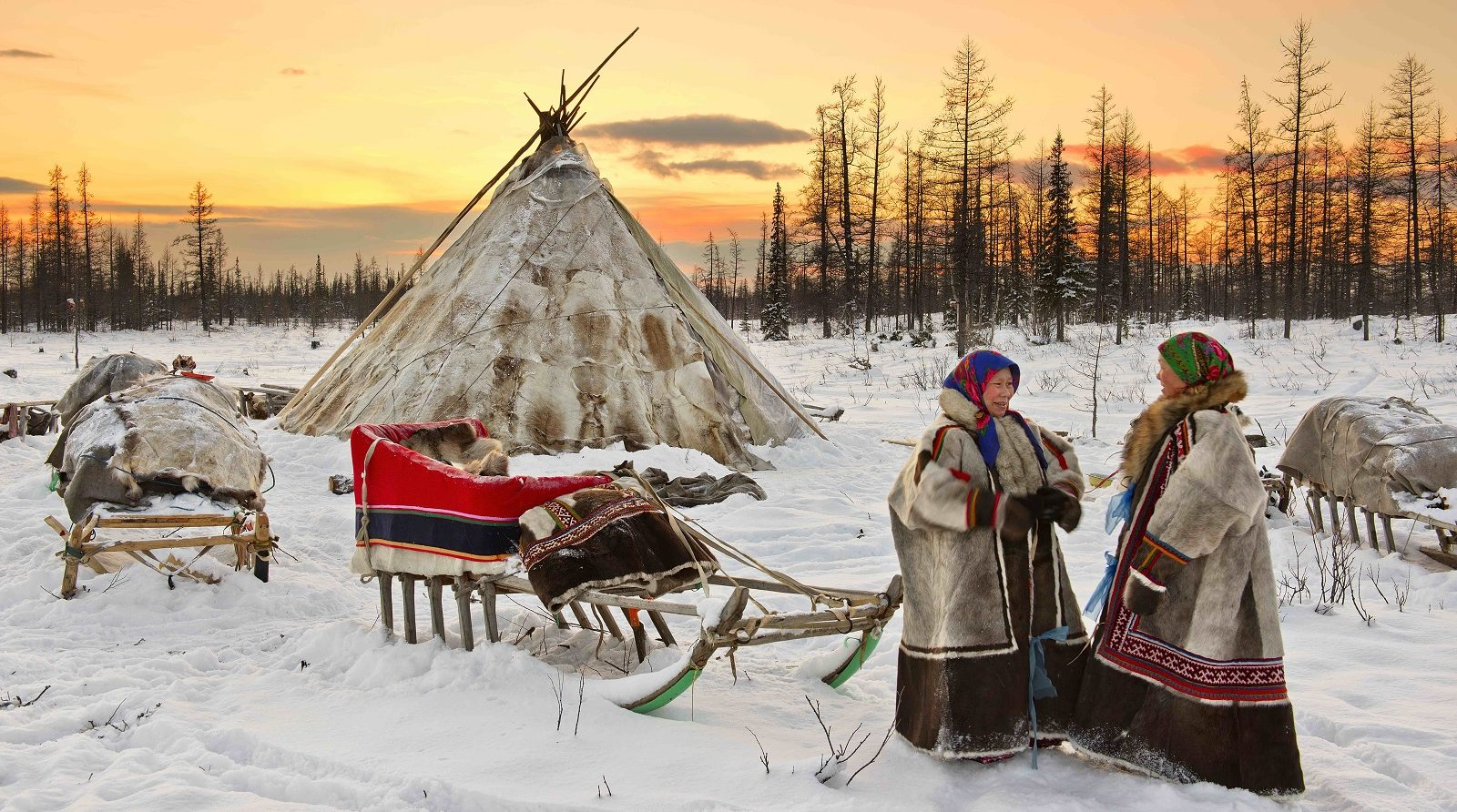 Russian Reindeer Herders Brave the Snow in Siberia