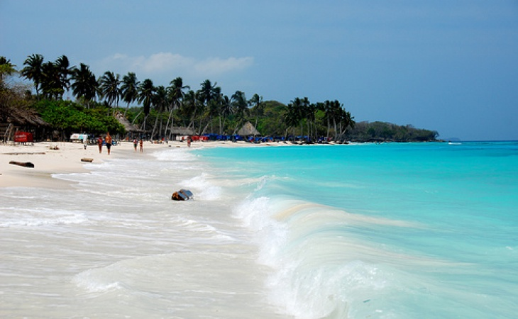 White Sand Beach in Cartagena, Colombia
