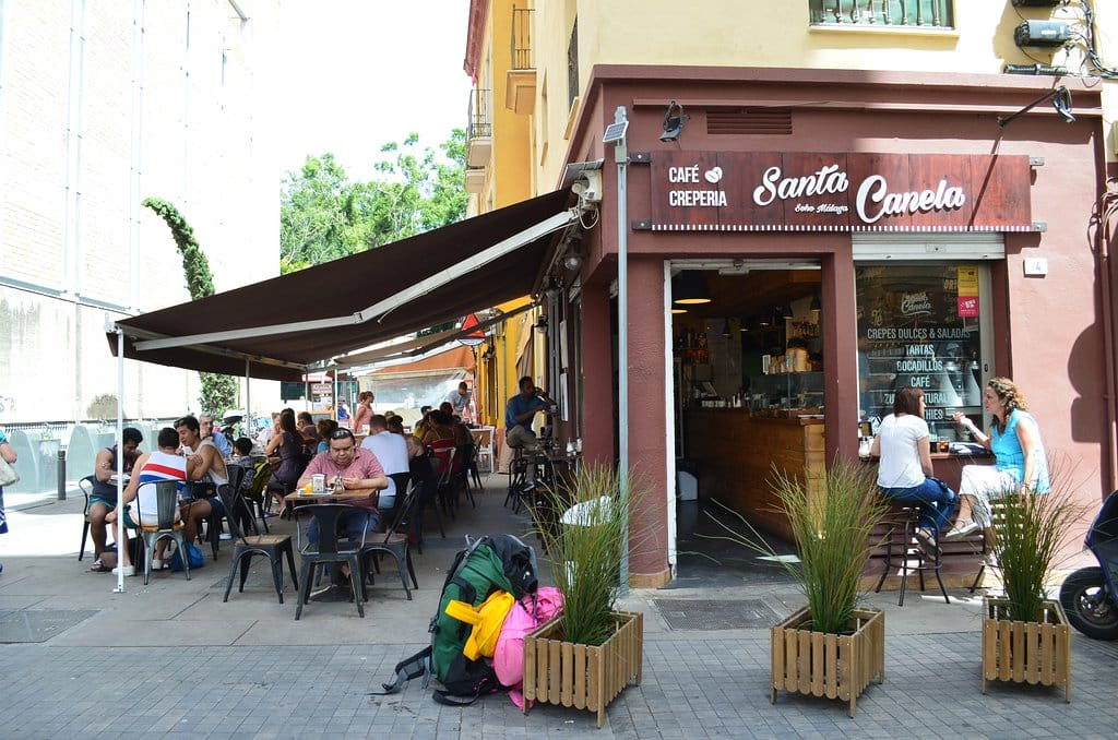 Outdoor Terrace Cafe on Spain's Costa del Sol