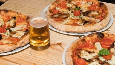 Pizza, Beer, and Friends in Malaga