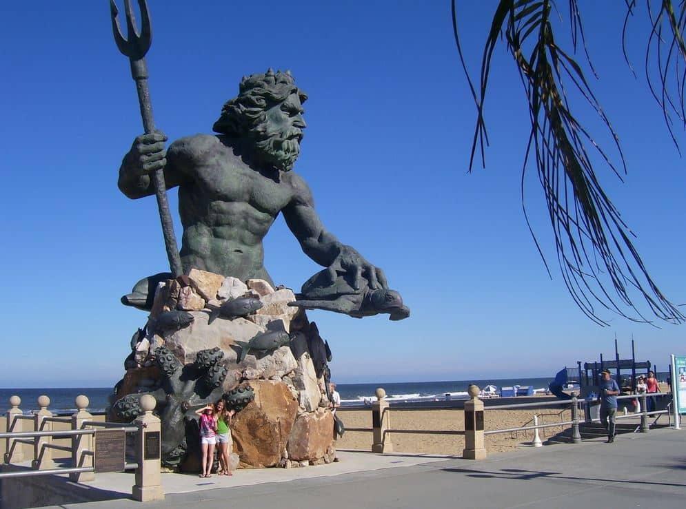 King Neptune Statue Virginia Beach