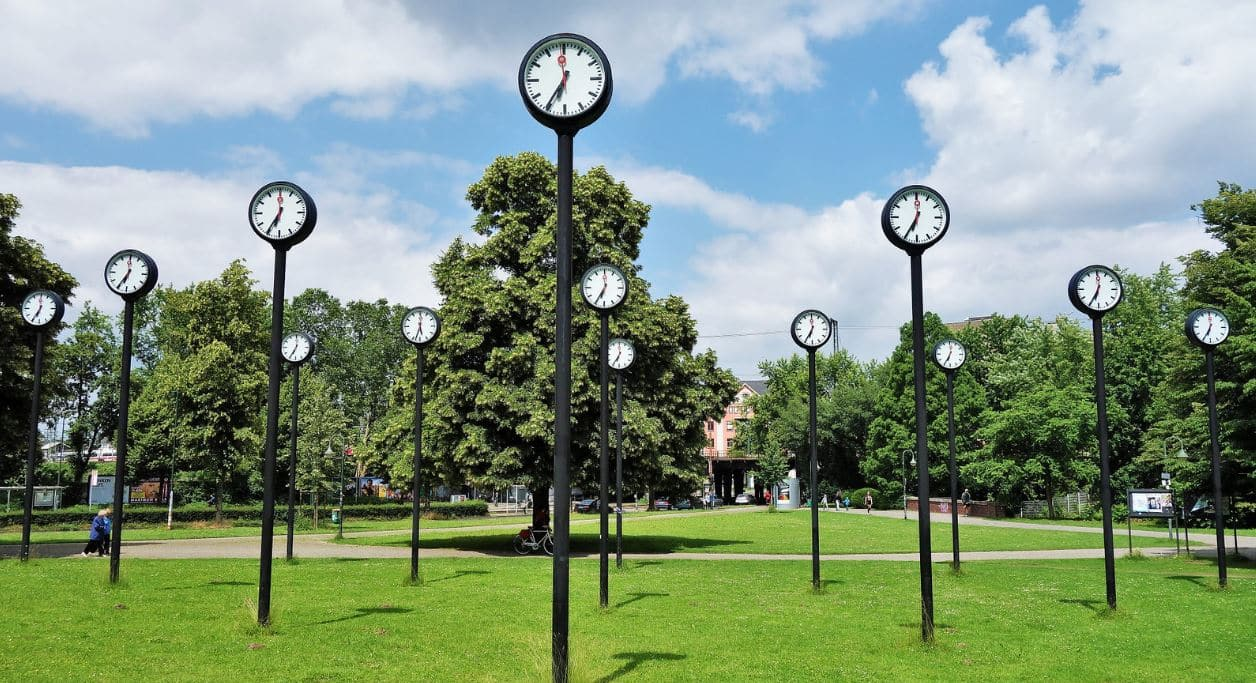 The Clocks at Zeitfeld Dusseldorf
