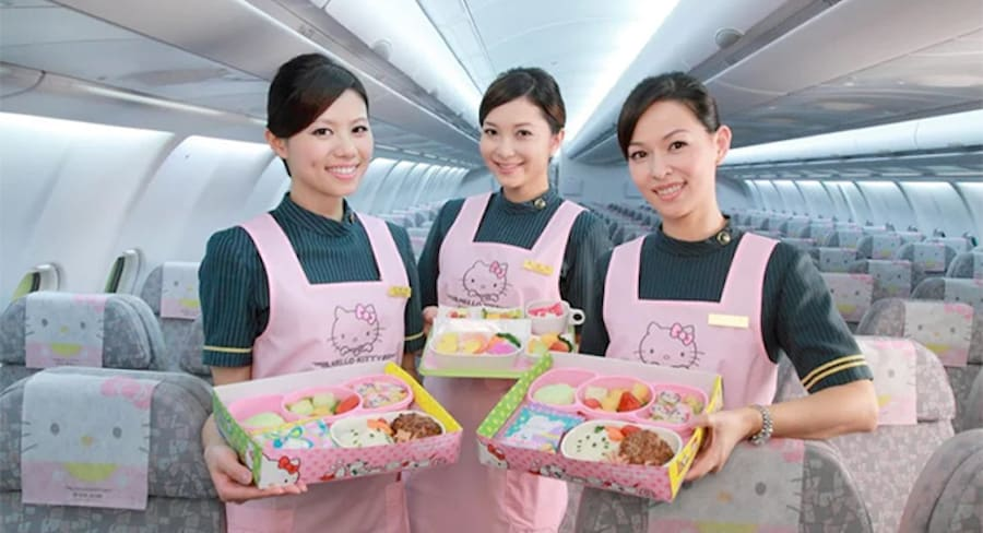 How to Fly on EVA Hello Kitty Plane