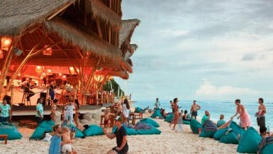 beach bars in Bali