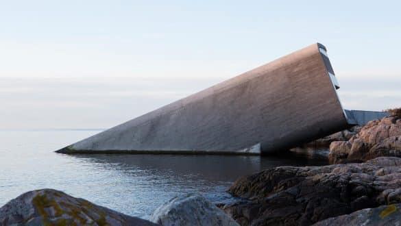 Under underwater restaurant Norway