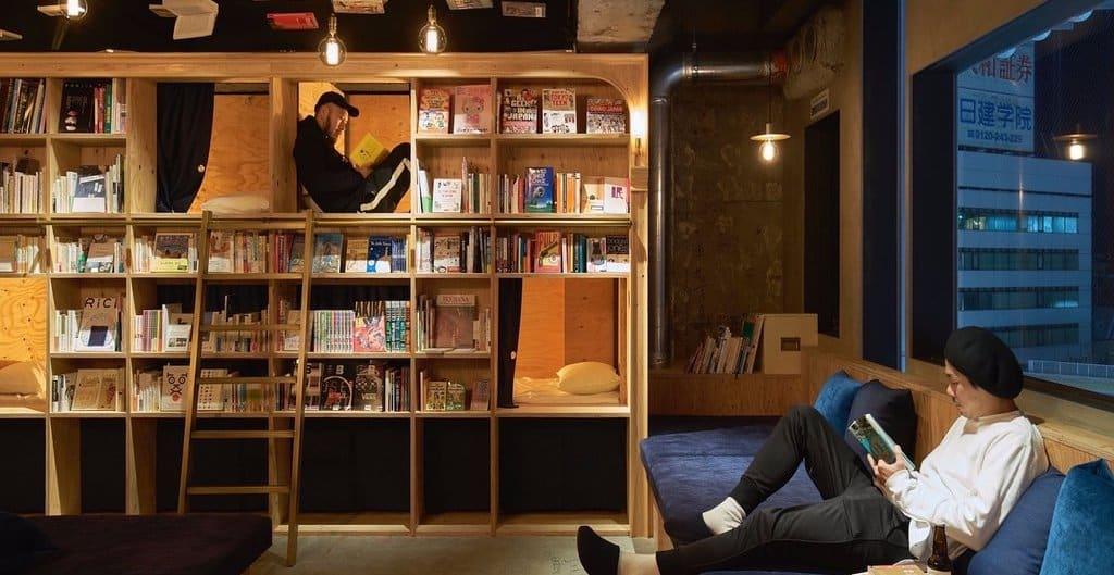 Bookstore Hostel in Tokyo