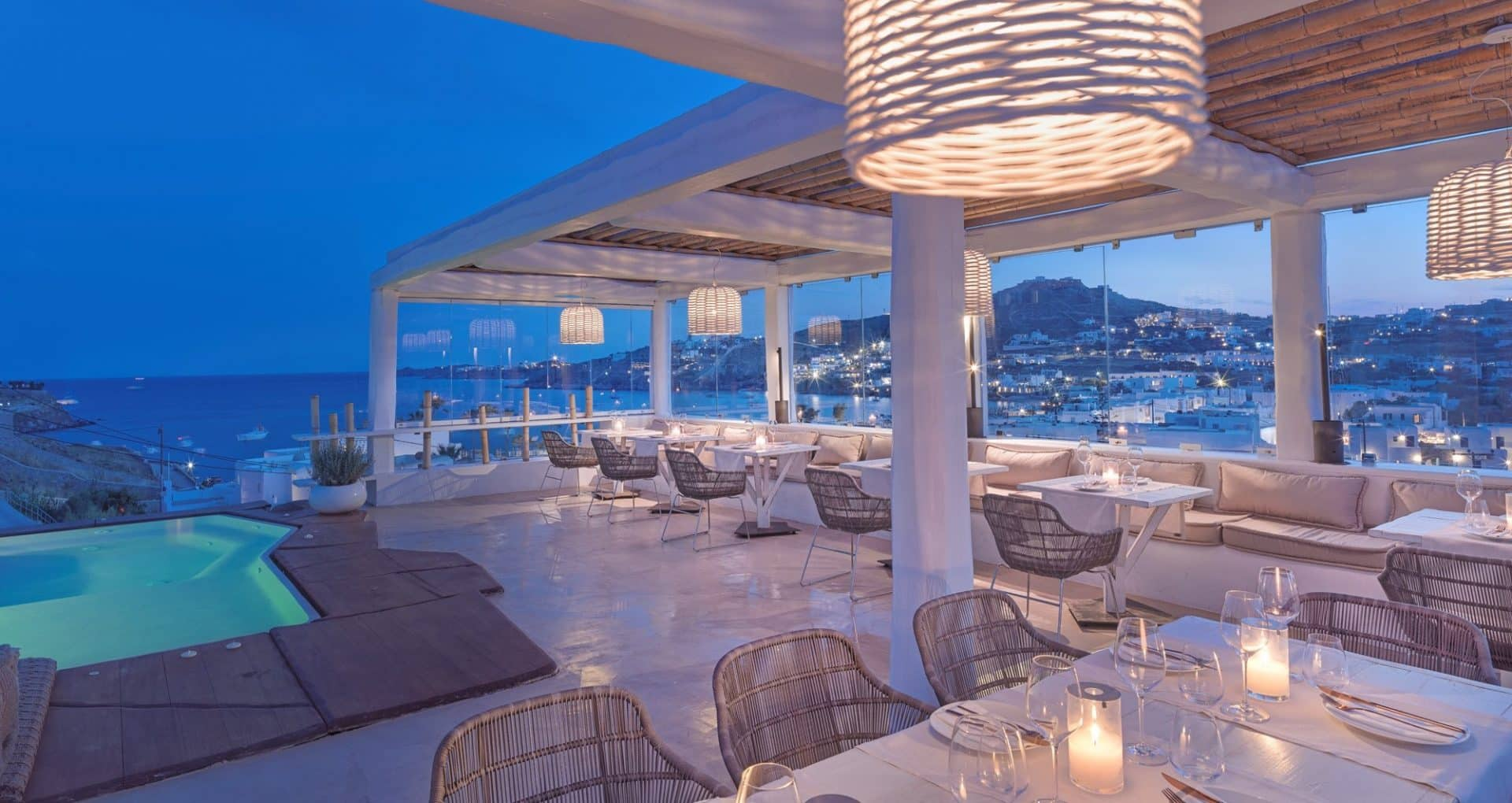 Romantic Beach Bars in Mykonos