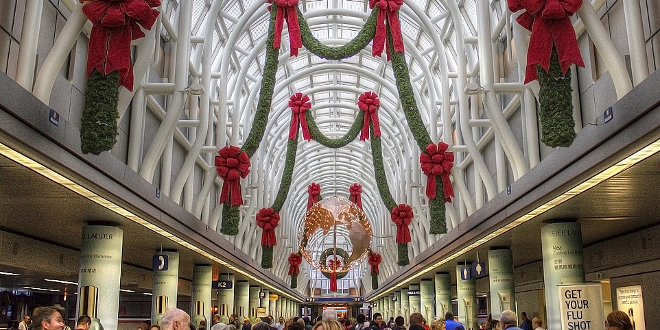 United States' Busiest Airports at Christmas