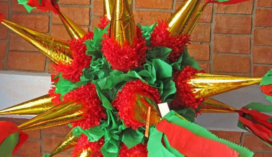Christmas Pinata in Mexico