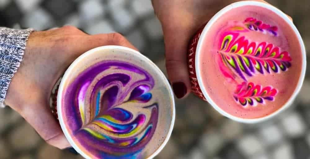 Rainbow Latte Art in Las Vegas