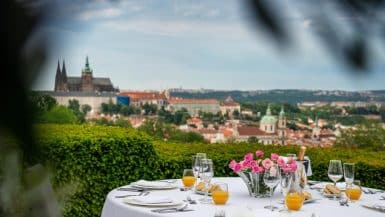 restaurants for Valentine's Day Prague
