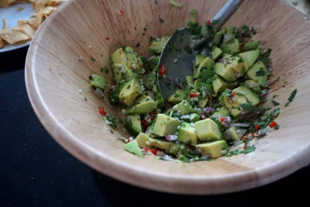 simple perfect guacamole