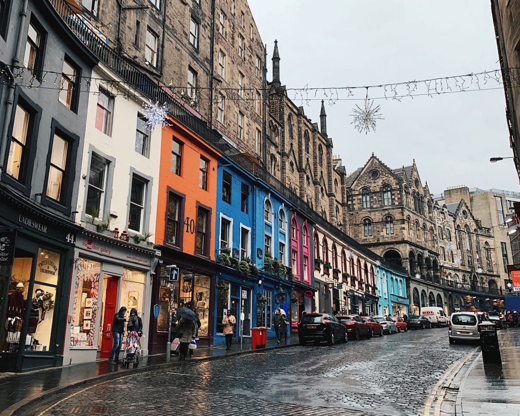 Victoria Street in Edinburgh the inspiration for Diagon Alley