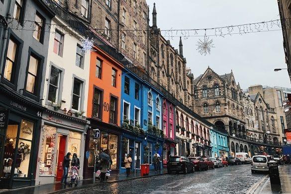 Victoria Street in Edinburgh the inspiration for Diagon Alley