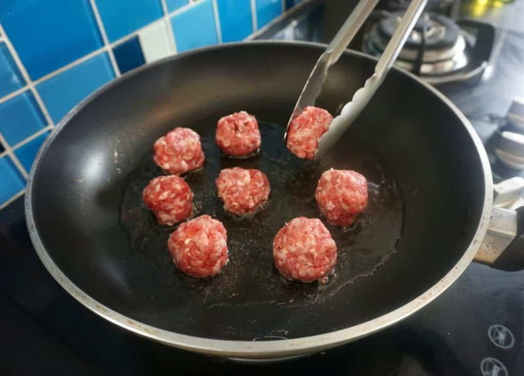 Greek Style stuffed Meatballs