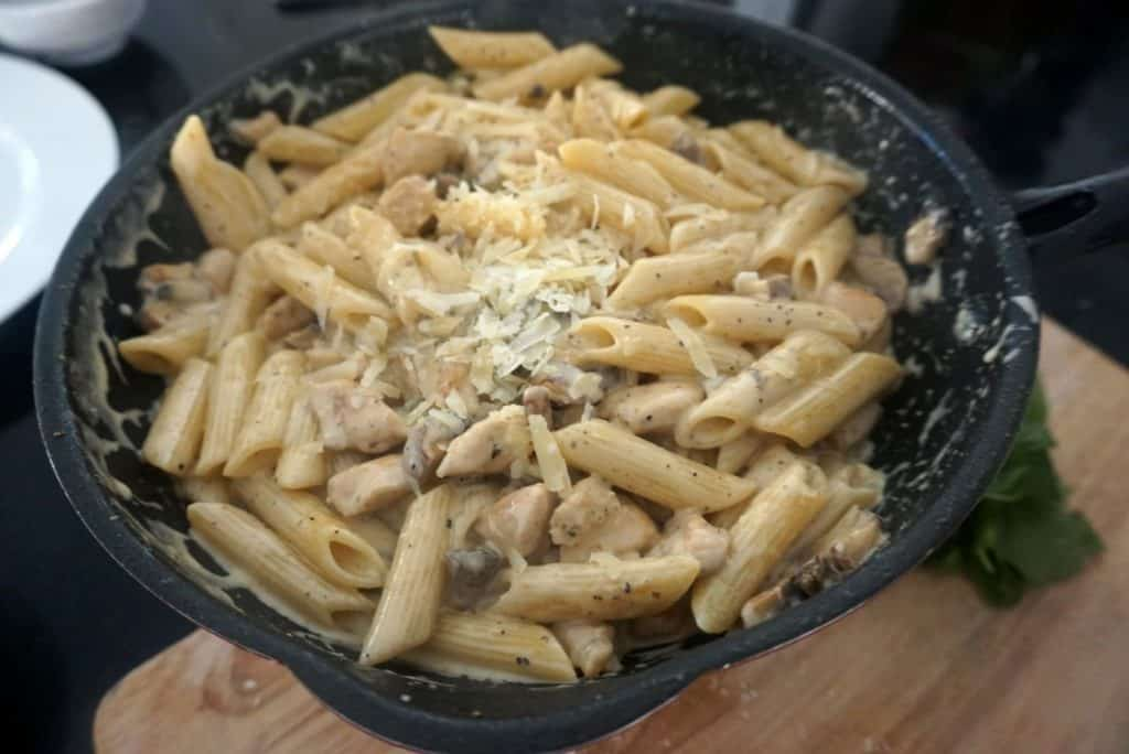 creamy chicken and mushroom basil