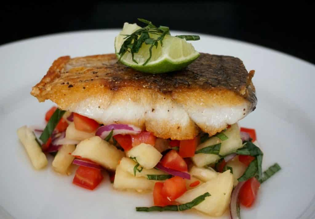Panfried Sea Bass