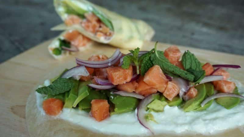 Salmon And Avocado Tacos