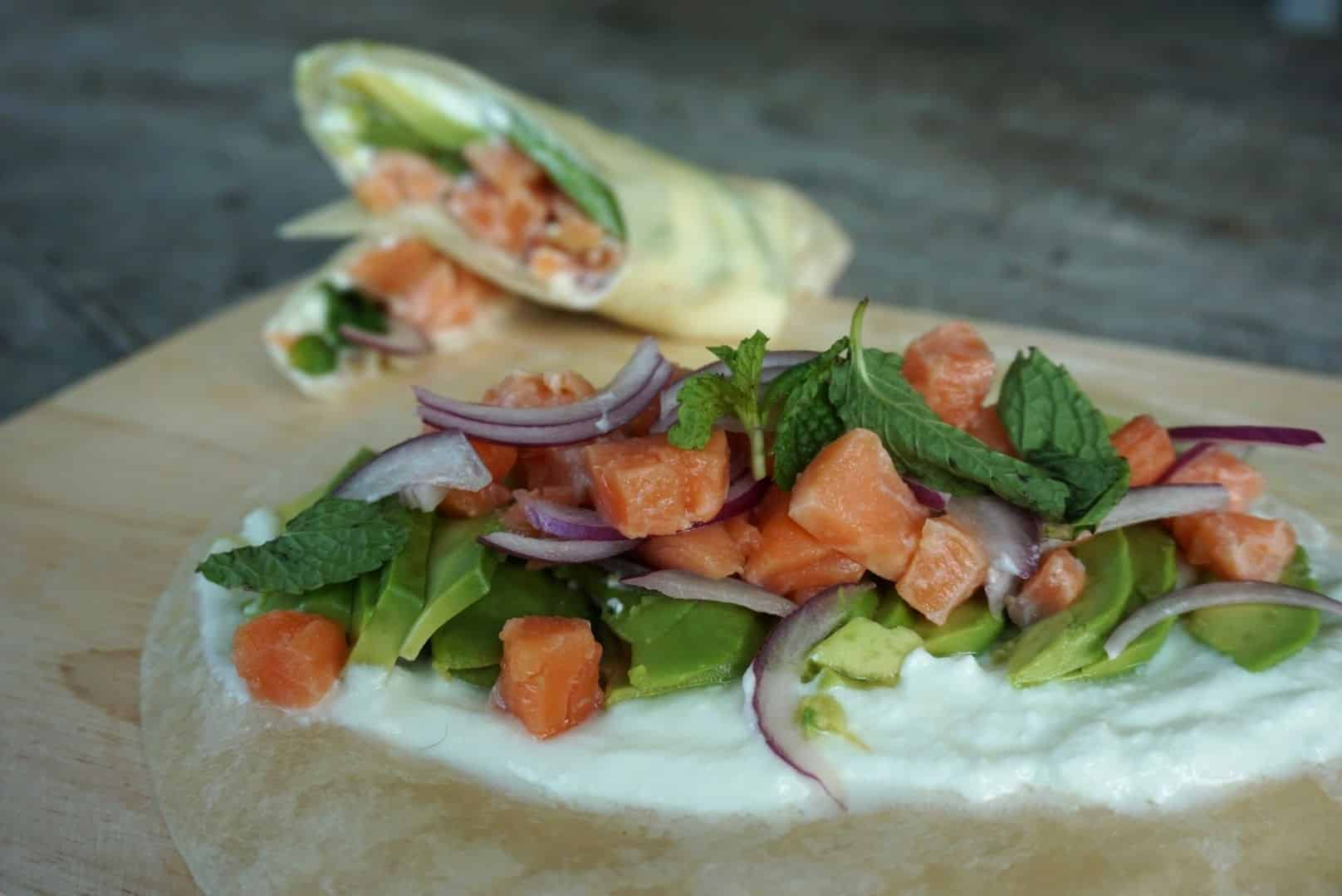 Salmon And Avocado Tacos