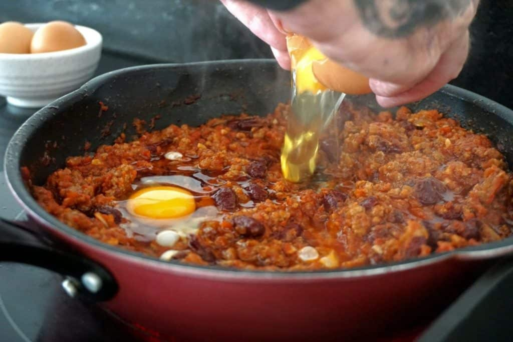 Chilli Beef With Eggs