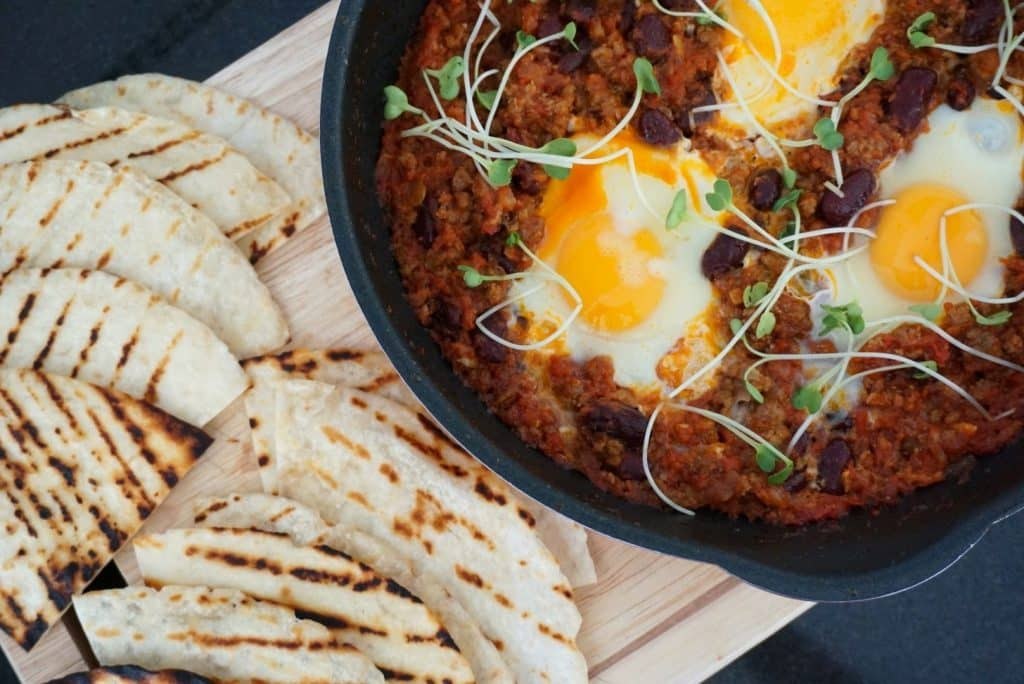 Chilli Beef With Eggs recipe