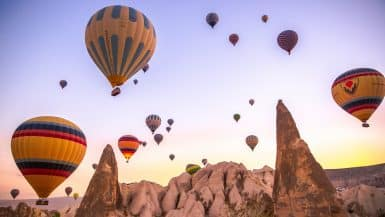Romantic Hot Air Balloon Rides
