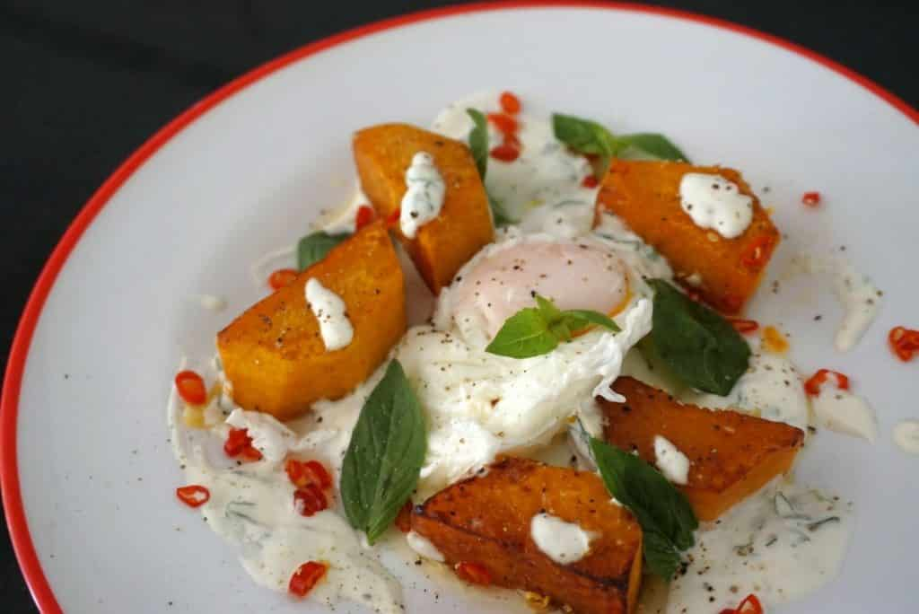 Squash With Poached Eggs