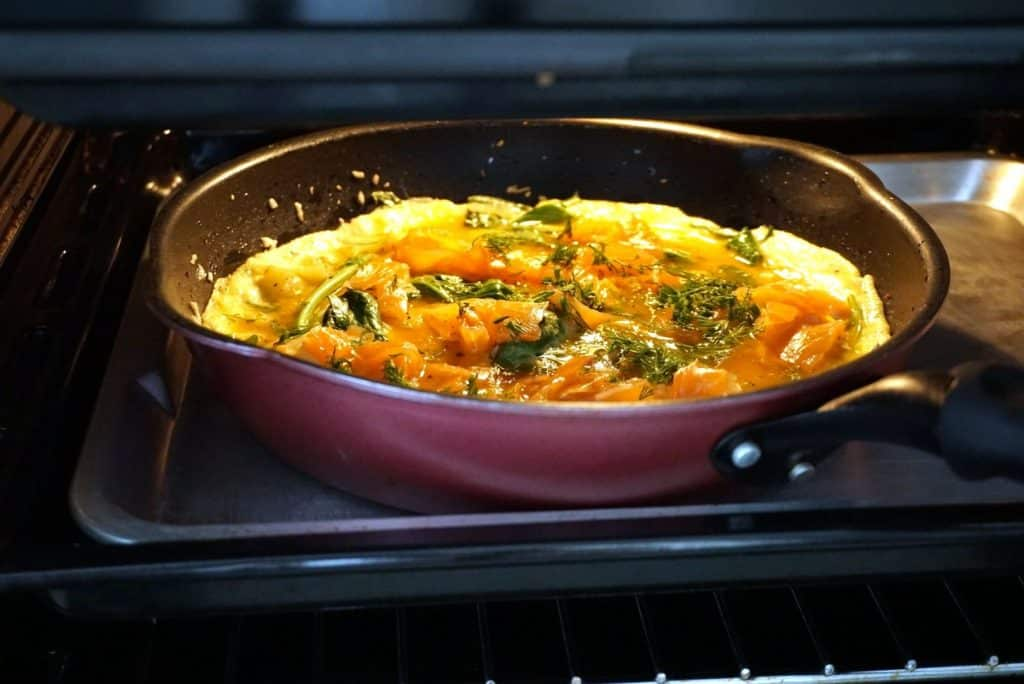 Salmon And Potato Frittata with dill