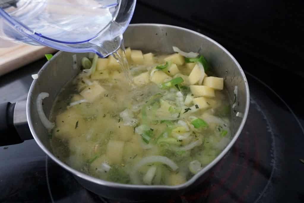 Leek potato soup Blue Cheese Dippers
