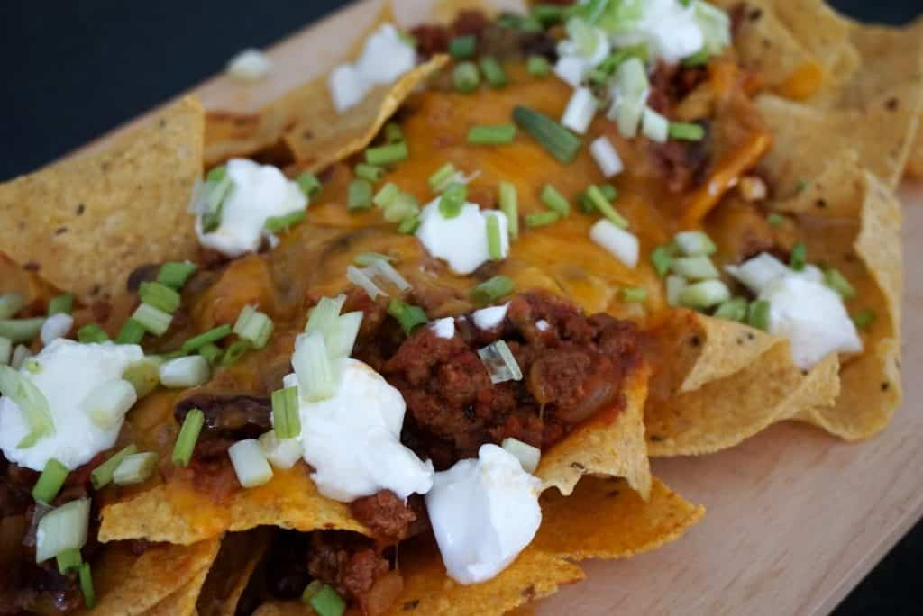 Cheat Loaded Beef Nachos