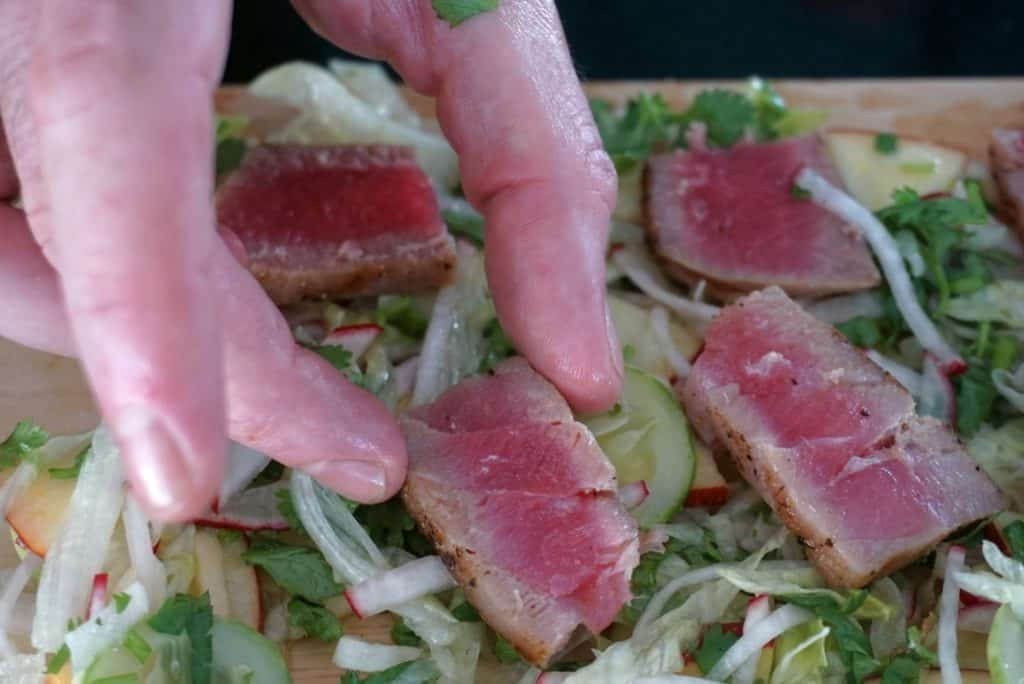 Seared Tuna Steak Salad