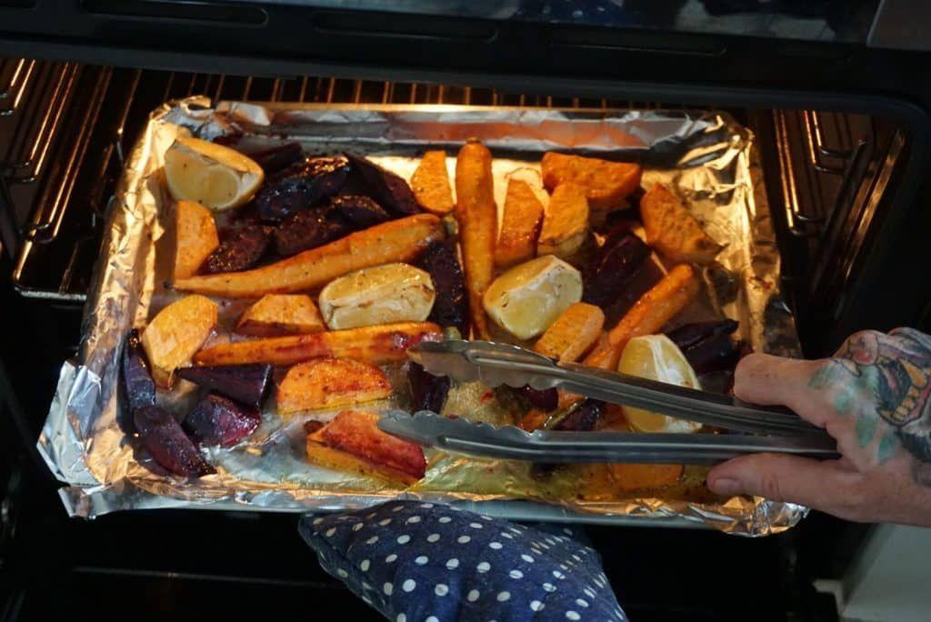 Rainbow Roasted Vegetables oven