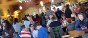 Packed American Restaurants Reopening