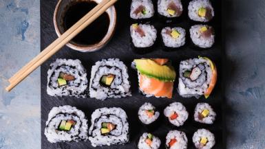 Japanese Sushi Dishes