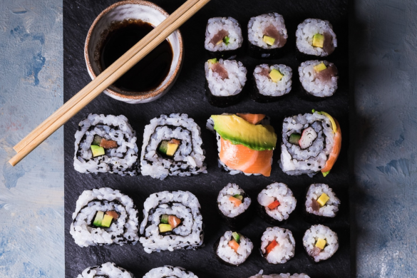 Japanese Sushi Dishes