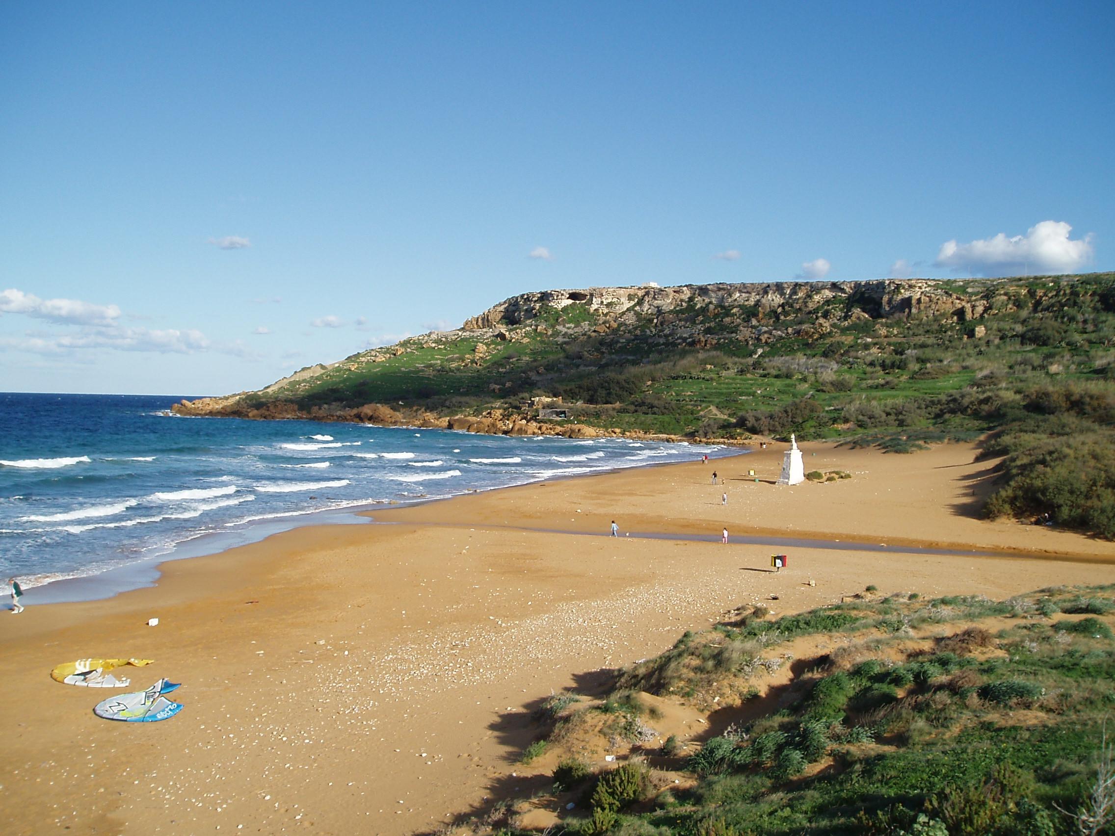 colourful sand beaches