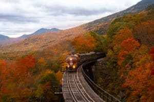 New Hampshire fall foliage train